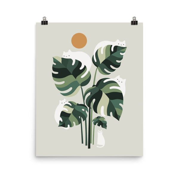 Cat and Plant 11 - Art print