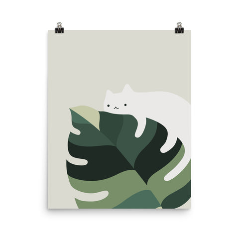 Cat and Plant 12A - Art print