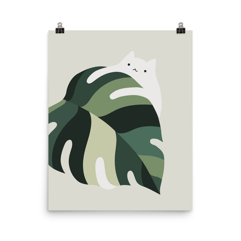 Cat and Plant 12B - Art print