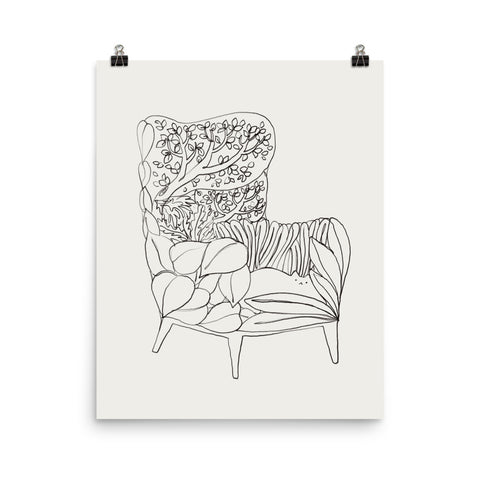 Cat and Plant 19 - Art print