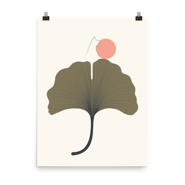 Cat and Plant 33 - Art print