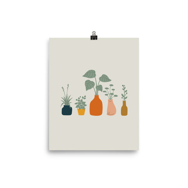 Cat and Plant 9 - Art print