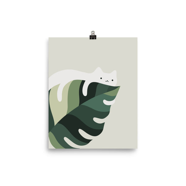 Cat and Plant 12C - Art print