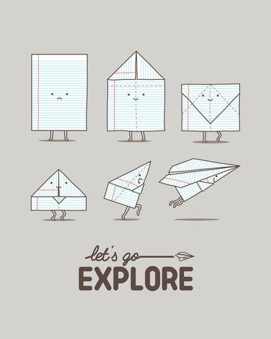 Let's go explore - Art print