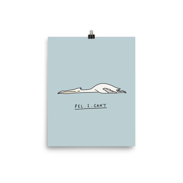 Moody Animals: Pelican - Art print