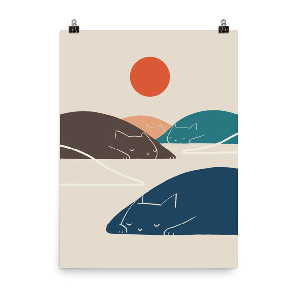 Cat Landscape 1 - Art print
