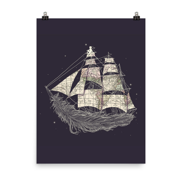 Wherever the wind blows - Art print