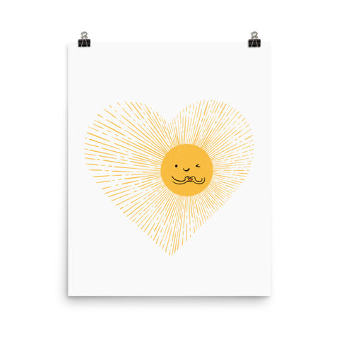 You are the sunshine of my heart - Art print