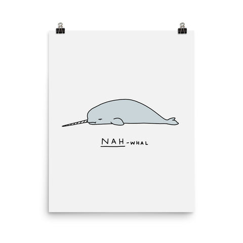 Moody Animals: Narwhal - Art print