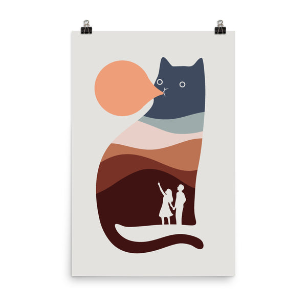 Cat Landscape 35 - Art print