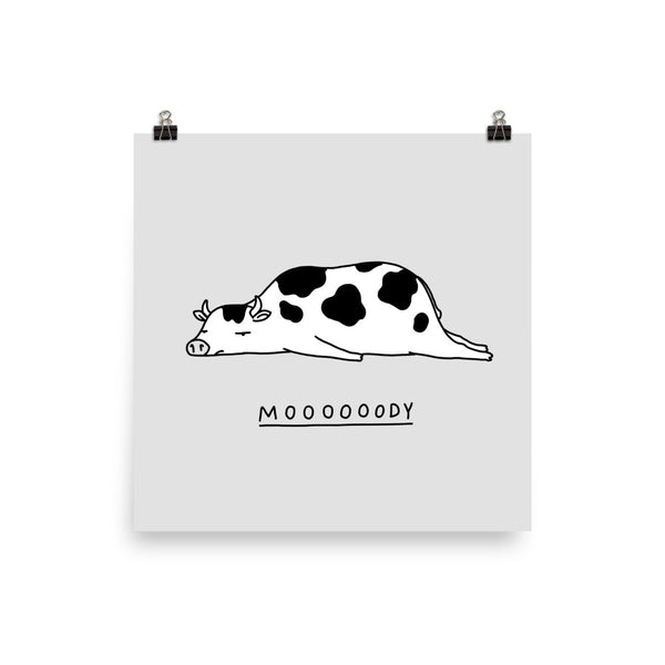 Moody Animals: Cow - Art print