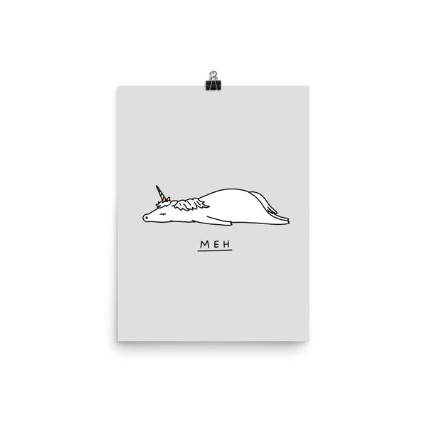 Moody Animals: Unicorn - Art print