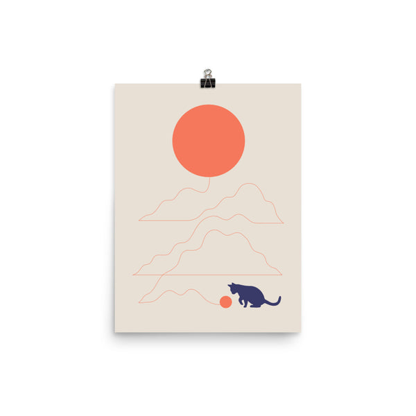 Cat Landscape 41 - Art print