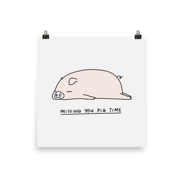 Moody Animals: Pig - Art print