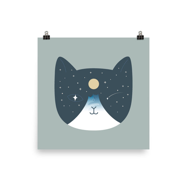 Cat Landscape 100 - Art print