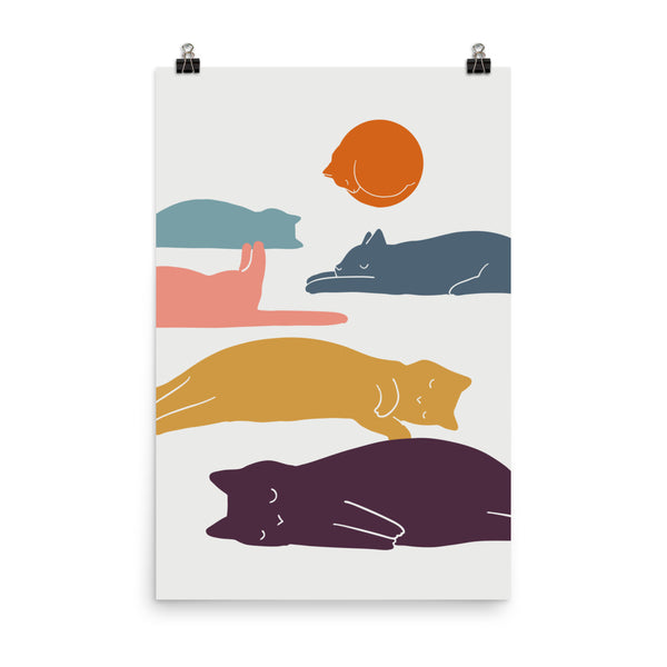 Cat Landscape 11 - Art print