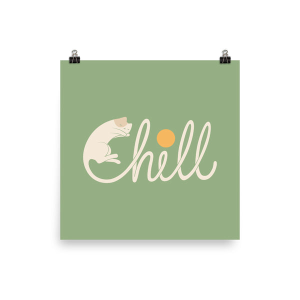 Cat Landscape 85: Chill - Art print
