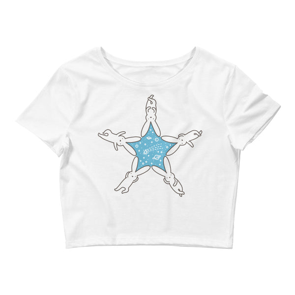 Rabbit Star - Women's Crop Tee