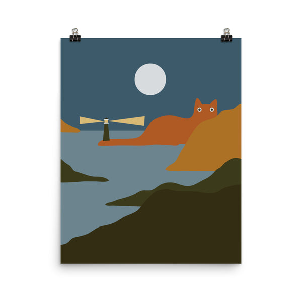 Cat Landscape 20 - Art print