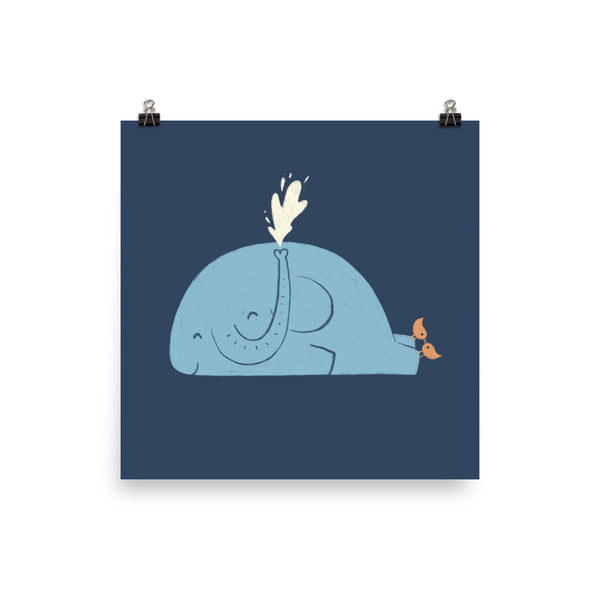 Whalephant - Art Print