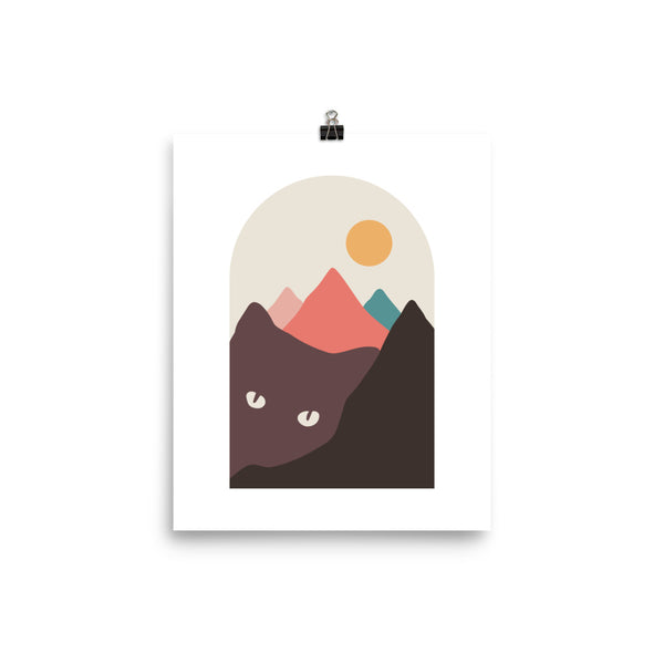 Cat Landscape 97 - Art print