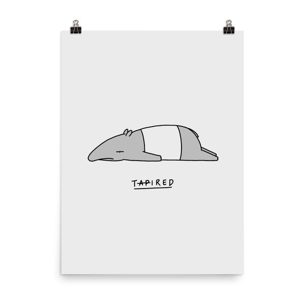 Moody Animals: Tapir - Art print
