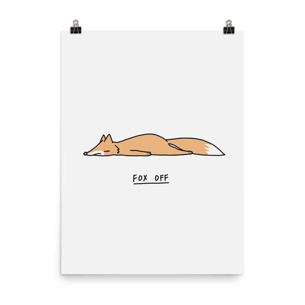 Moody Animals: Fox - Art print
