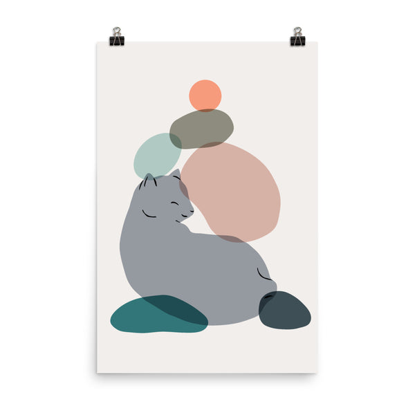Cat Landscape 60 - Art print