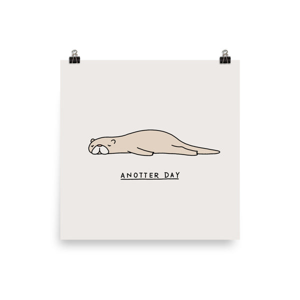 Moody Animals: Otter - Art print
