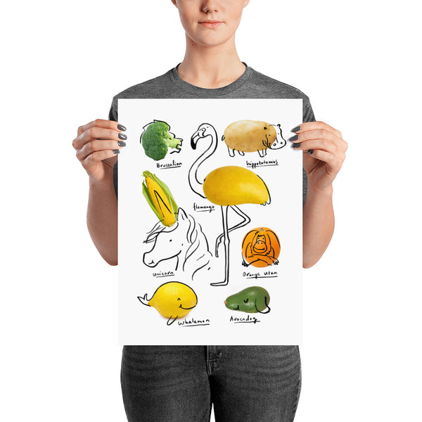 The Wild Vegan - Art print