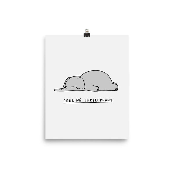 Moody Animals: Elephant - Art print
