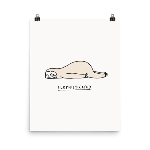 Moody Animals: Sloth - Art print
