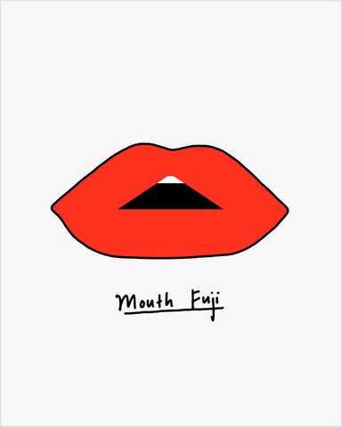 Mouth Fuji - Art Print