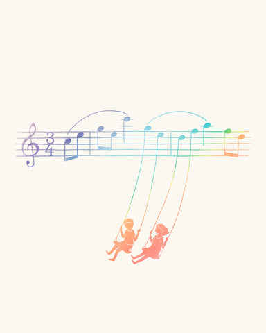 Music Swing - Art print