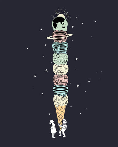 Planet Ice Cream - Art print