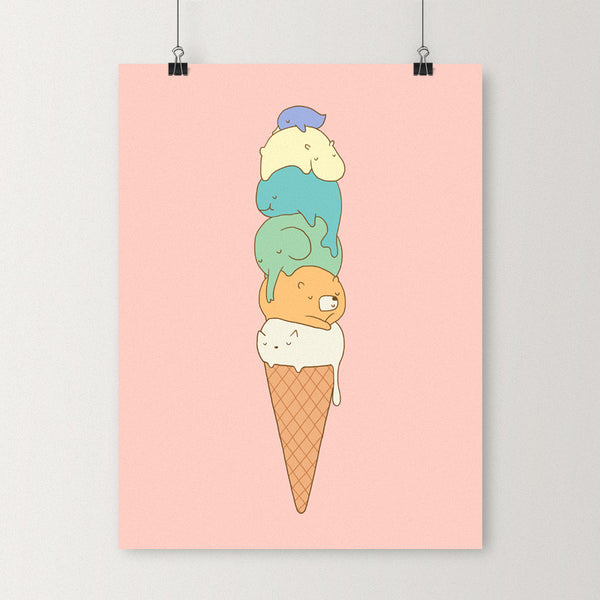 Melting - Art print