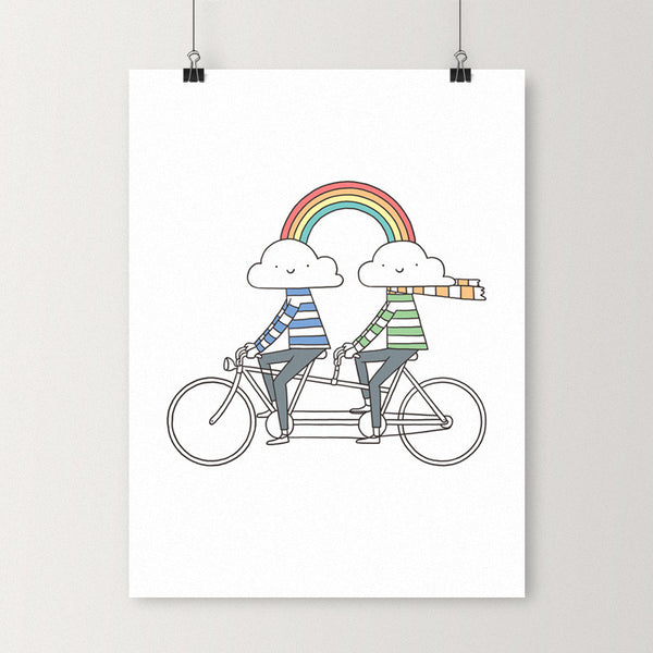 Love makes life a beautiful ride - Art print