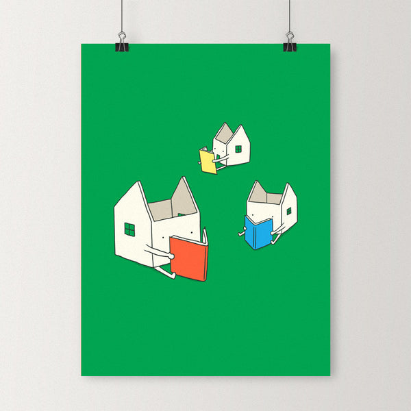 Every house has its own story - Art print