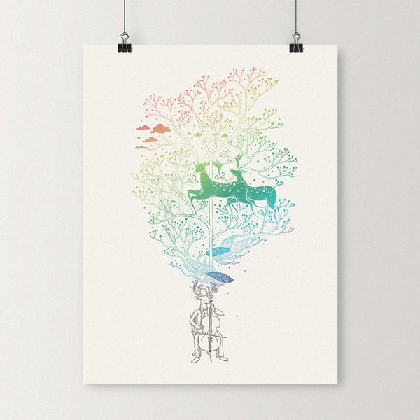 The Cellist - Art print
