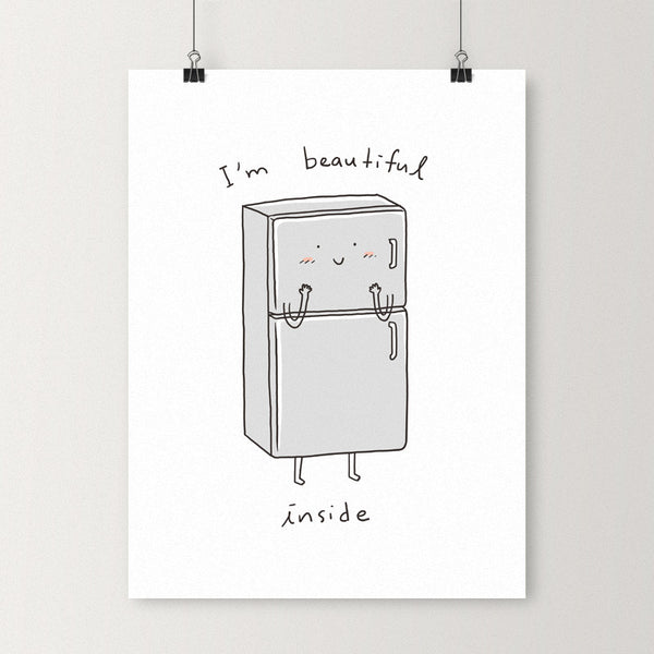 Beautiful inside - Art print