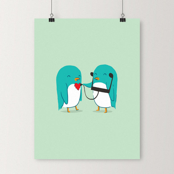 The sound of love - Art print