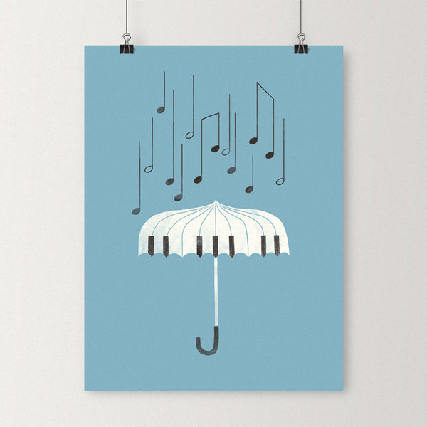 Singing in the rain - Art print