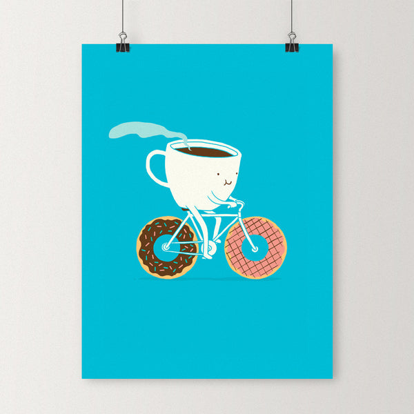 Coffee and Donuts - Art print