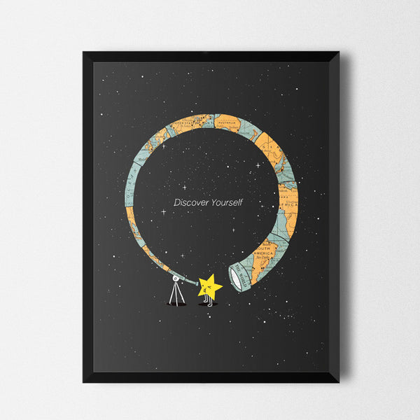 Discover yourself - Art print
