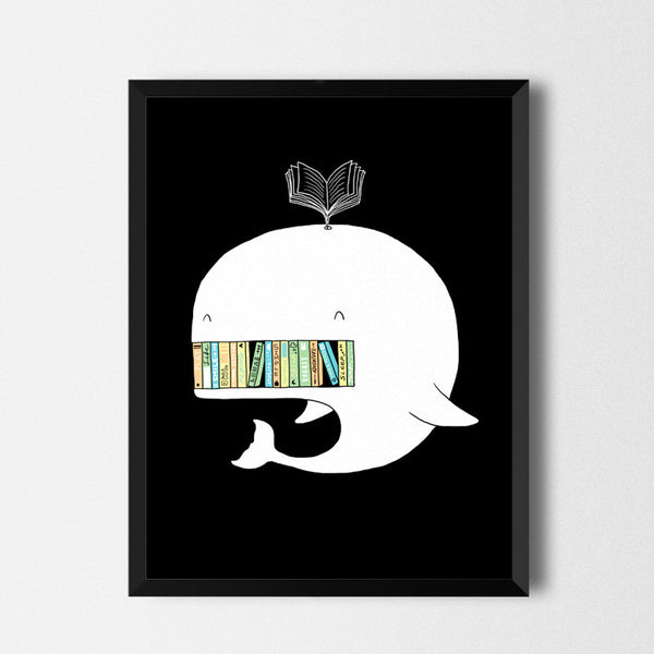 My bookshelf - Art print