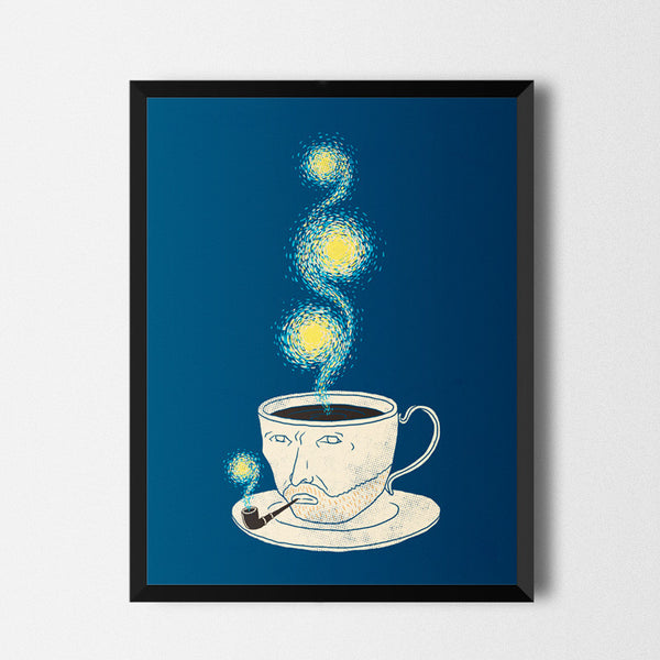 Starry starry coffee - Art print