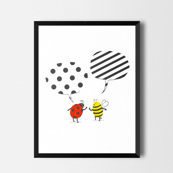 Pattern conflict - Art print