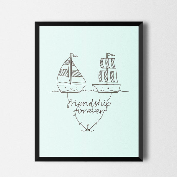 Friendship forever - Art print
