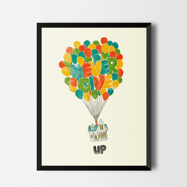 Never give up - Art print