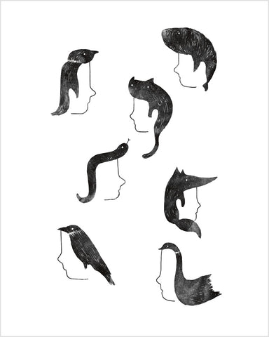 Hairnimals - Art print